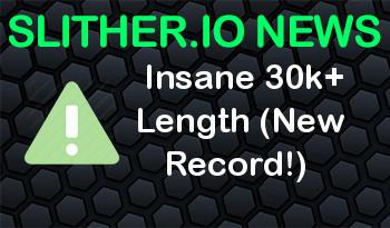 Slither.io | Insane 30k+ Length (New Record!)