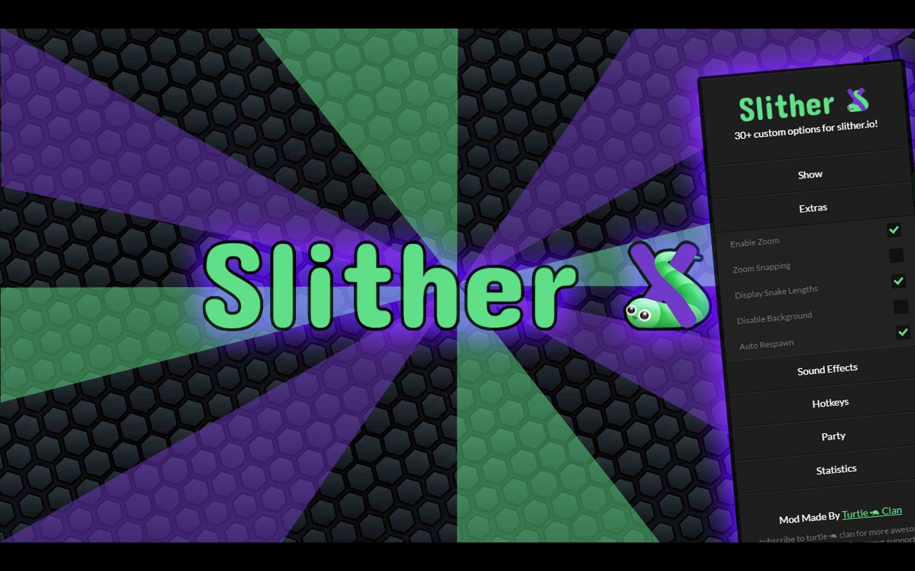 If you want to progress fast in the game of slither.io, you can take the assistance of various mods. Apart from it, you can use browser extensions and plugins; you may initiate such mods directly from the browser.