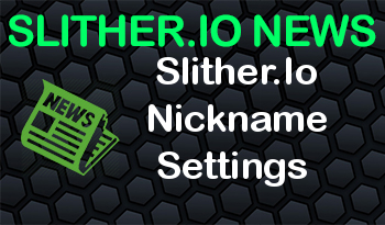 Slither.Io Nickname Settings