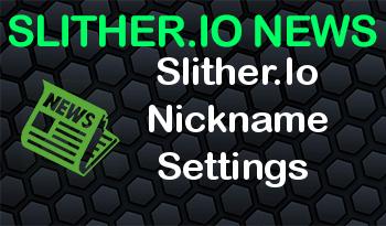 Slither.Io Nickname Settings
